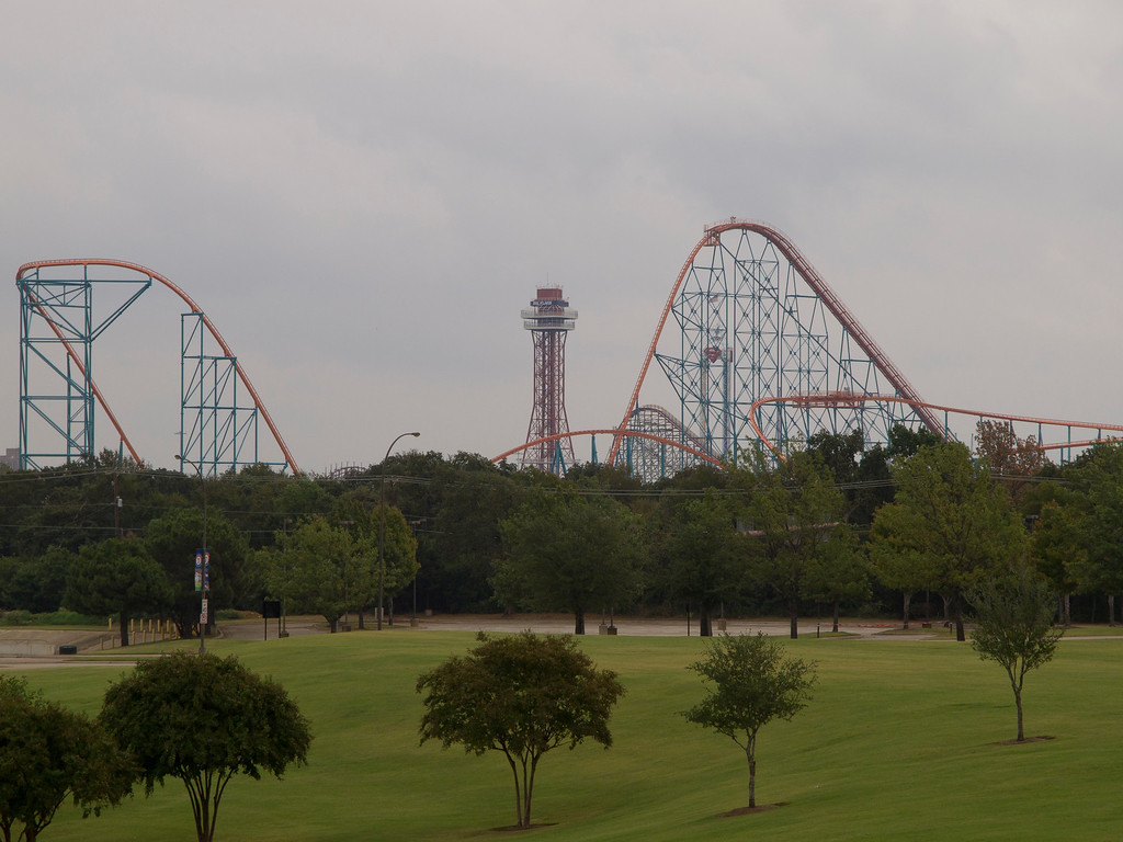 six flags over texas titan. at Six Flags over Texas